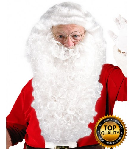 Professional Santa Claus Wig and Beard Set Deluxe HX-001