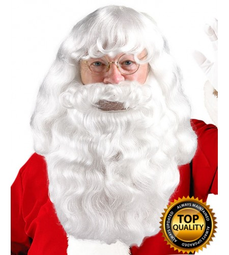 Christmas Party Santa Claus Wig and Beard Set Deluxe HX-002