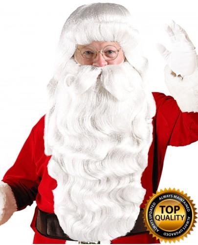 Xmas Party Super Santa Claus Wig and Beard Set Deluxe HX-003