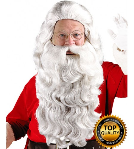 Santa Claus Adult Wig and Beard Set Deluxe HX-007