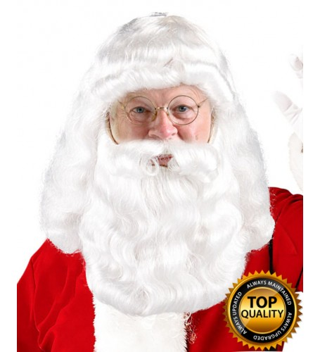 Adult Fancy Santa Claus Wig and Beard Set Deluxe HX-008
