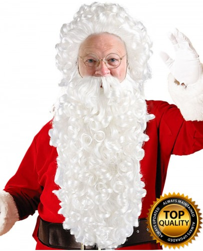 Super Long Santa Claus Wig and Beard Set Deluxe HX-009