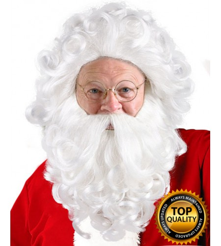 Professional Father Xmas Santa Claus Wig and Beard Set Deluxe HX-014