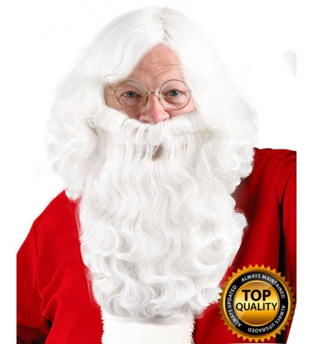 Santa Claus Wig and Beard Set Deluxe HX-016