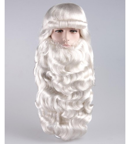 Mens Santa Claus Long Wig and Beard Set HX-004