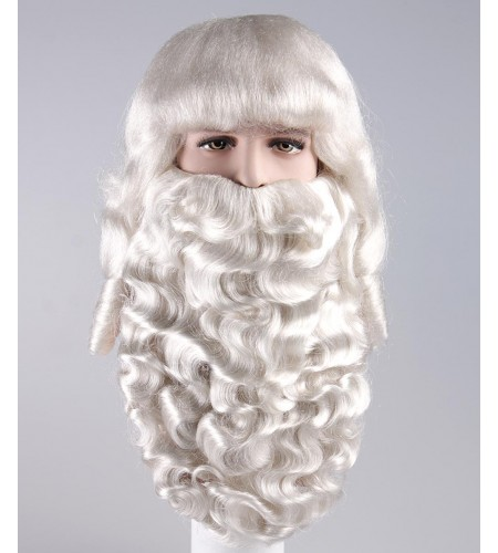 Mens Father Xmas Santa Claus Wig and Beard Set HX-005