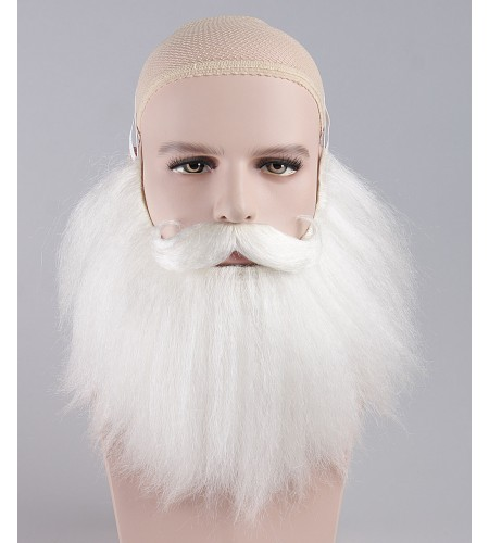 Adult Sanda Claus White Beard and Moustache Set HX-013