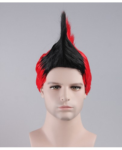 Black / Red Mohawk Wig