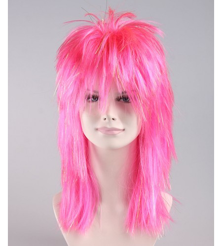 New Waves Hot Pink Adult's Wig