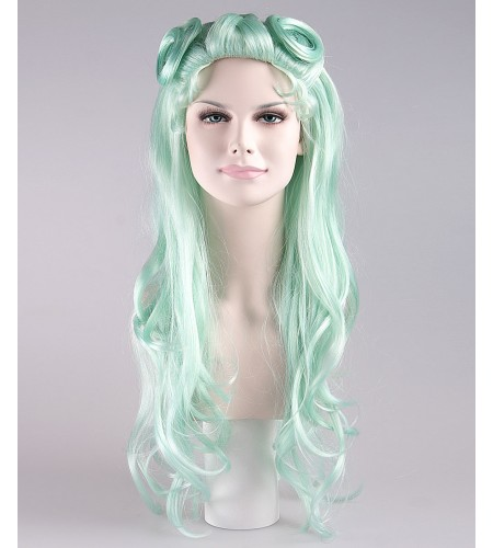 Pale Blue Curly Glamour Siren Wig